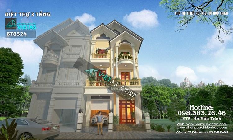 Biet thu pho 3 tang phong cach tan co dien 6x15m o Hai Phong (2-2)