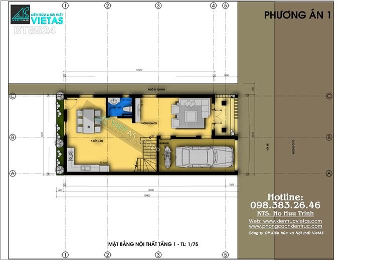 Biet thu pho 3 tang phong cach tan co dien 6x15m o Hai Phong_bt8524 (4)