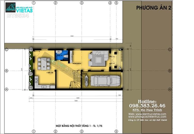 Biet thu pho 3 tang phong cach tan co dien 6x15m o Hai Phong_bt8524 (5)