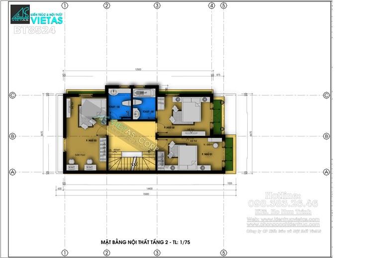 Biet thu pho 3 tang phong cach tan co dien 6x15m o Hai Phong_bt8524 (6)