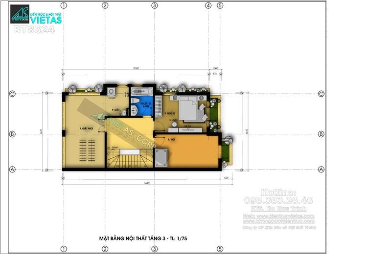 Biet thu pho 3 tang phong cach tan co dien 6x15m o Hai Phong_bt8524 (7)