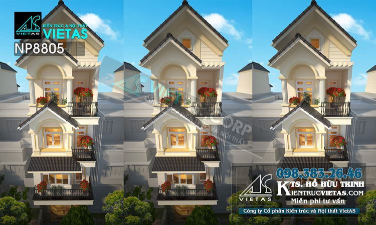 Mau nha pho dep 2019 - Thiet ke lech tang 5x20m tan co dien cho vo chong tre ket hop kinh doanh (2)